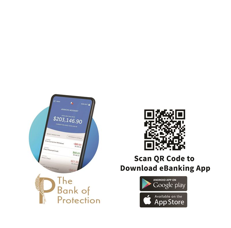 QR Code, scan code to download our Mobile App from either the Google Play Store or the Apple App Store.